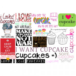 cupcake quotes - Polyvore