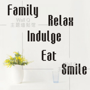 ... Relex Quote wall decals Home Restaurant wall stickers Quotes:20*49 CM