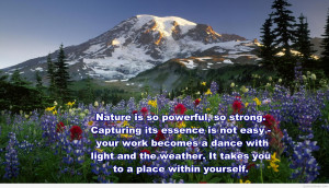 Mother nature photo quote 2015
