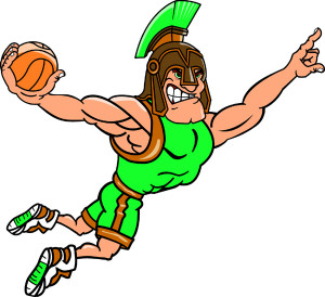 King Basketball Player Team