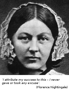 Florence Nightingale with quote