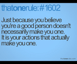 Actions say it all!