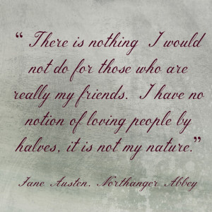 Jane Austen quote on friendship