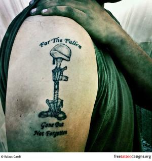 For the Fallen memorial tattoo