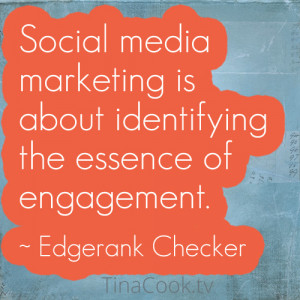 Social Media Marketing Quote by Edgerank Checker