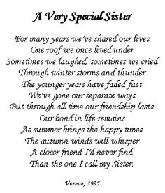 ... sister poems, sister quotes, birthday quotes sister, little sister