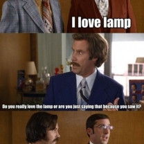 Steve Carell I Love Lamp Quote Scene In Anchorman The Legend Of Ron ...