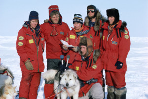 Paul Schurke and Will Steger expedition team at North Pole Arctic
