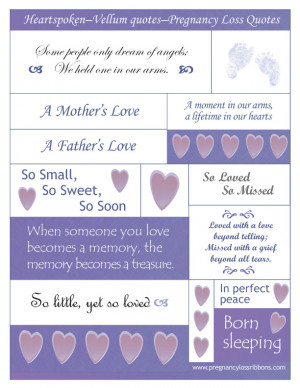 Scrapbook your baby - Pregnancy Loss Ribbons