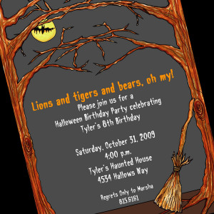 Halloween Invitation and Halloween Invitations For Spooky Halloween ...