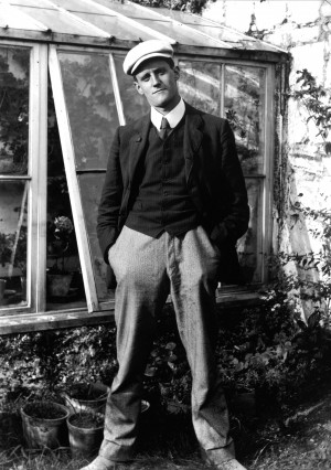 James Joyce, pictured in 1904 (Original photograph from the C. P ...