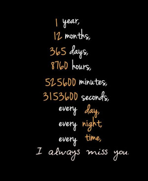... miss you and I will always keep missing you for the rest of days
