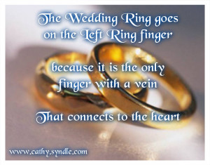 ... is a three ring circus engagement ring, wedding ring and suffering