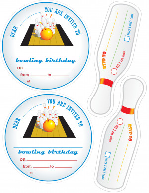 Bowling Party Invitationjpg picture