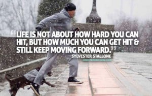 Sylvester Stallone Rocky Motivation Picture Quote