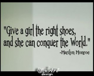 24 Marilyn Monroe shoes quotes art VINYL LETTERING WALL DECALS decor
