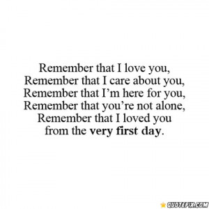 Love You From The First Day I Met You