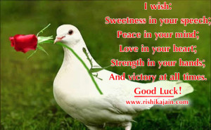 My best wishes for you