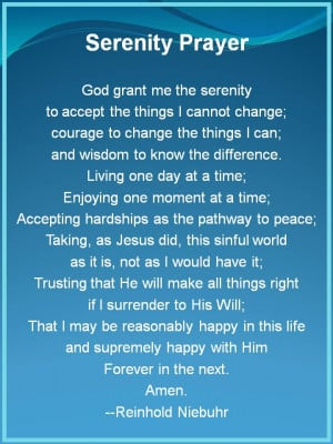 Serenity Prayer - The Serenity Prayer