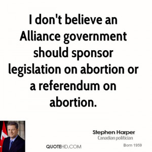 ... should sponsor legislation on abortion or a referendum on abortion
