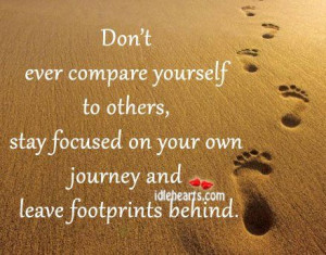leave your own footprints