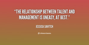 ... The relationship between talent and management is uneasy, at best