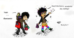 Magnus and Alec with Rainbow Pants! Well...Just Magnus :)