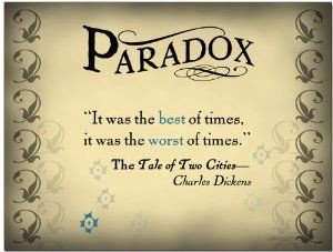 : Literary Tools: Paradox English Literature Poster featuring a quote ...