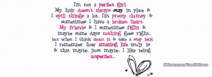 Girly Quote Facebook Covers