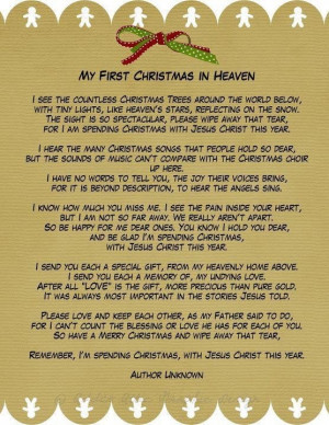 First Christmas in Heaven