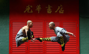 carol court getty masters of shaolin kung fu shaolin monks pose for a ...