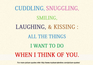 thinking of you quotes - When I think of you