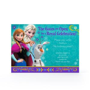 PERSONALIZE IT! A Royal Celebration - Frozen 5x7 Flat Invitation $1.99 ...