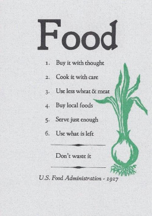 US Food Administration Food Quote