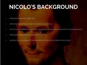 Nicolo Machiavelli By Blair Orr