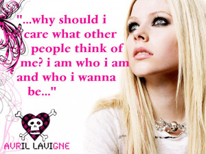 Avril iz such a good role model