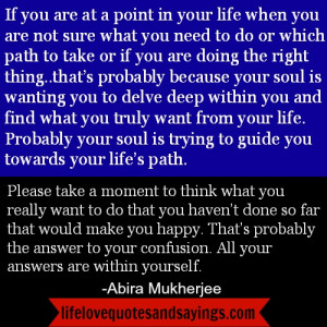 All Answers Are Within Yourself..