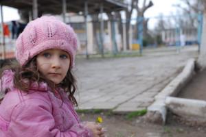 Chechen Refugee Muslim Girl...