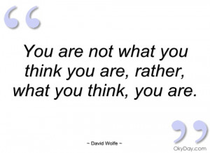 you are not what you think you are david wolfe