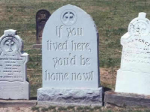 of crazy weird gravestone tombstone in a creepy cemetery with a funny ...