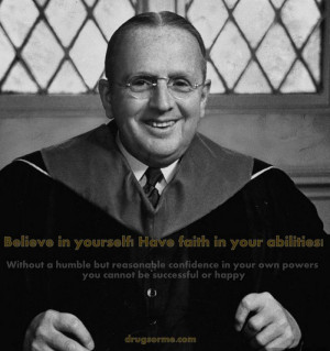 """... you cannot be successful or happy."""" Author: Norman Vincent Peale"""
