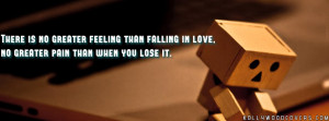 ... in love, and no greater pain than when you lose it Pain FB Quotes
