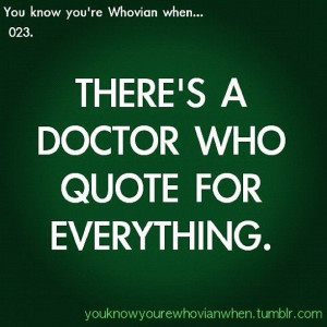 Awesome Doctor Who Quotes Poster