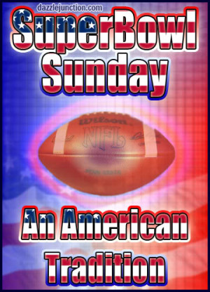Super Bowl Sunday American Tradition picture