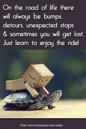 On the road of life there will always be bumps, detour, unexpected