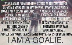 goalies more ice hockey goalie hockey mom goalie quotes hockey sports ...
