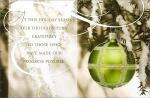 Appreciation Corporate Holiday Card