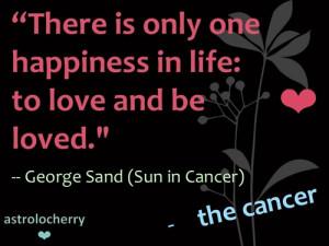 Star Sign QuotesCancerGeorge Sand