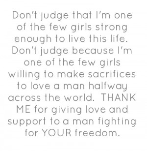 Don't judge that I'm one of the few girls strong