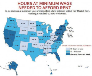 WORK HOURS TO PAY RENT